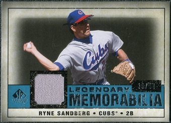 2008 Upper Deck SP Legendary Cuts Legendary Memorabilia Blue #RS Ryne Sandberg /99
