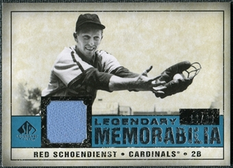 2008 Upper Deck SP Legendary Cuts Legendary Memorabilia Blue Parallel #SC Red Schoendienst /99