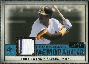 2008 Upper Deck SP Legendary Cuts Legendary Memorabilia Blue #TG2 Tony Gwynn /99