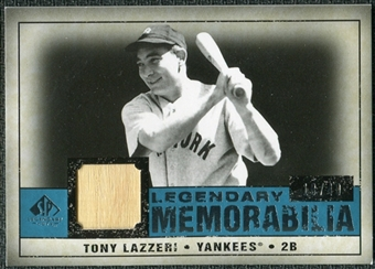 2008 Upper Deck SP Legendary Cuts Legendary Memorabilia Blue #TL Tony Lazzeri /40