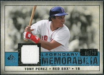 2008 Upper Deck SP Legendary Cuts Legendary Memorabilia Blue #TP2 Tony Perez /99
