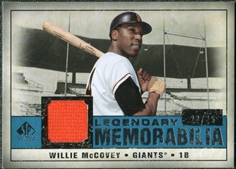 2008 Upper Deck SP Legendary Cuts Legendary Memorabilia Blue Parallel #WM Willie McCovey /25