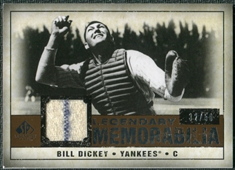 2008 Upper Deck SP Legendary Cuts Legendary Memorabilia Copper Parallel #BD Bill Dickey /50