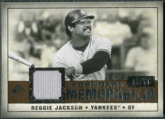 2008 Upper Deck SP Legendary Cuts Legendary Memorabilia Copper #RJ Reggie Jackson /50