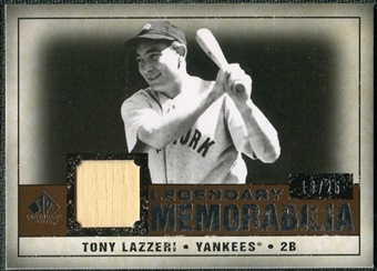 2008 Upper Deck SP Legendary Cuts Legendary Memorabilia Copper Parallel #TL Tony Lazzeri /25