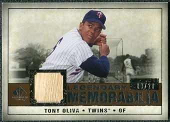 2008 Upper Deck SP Legendary Cuts Legendary Memorabilia Copper Parallel #TO Tony Oliva /20