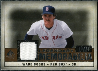 2008 Upper Deck SP Legendary Cuts Legendary Memorabilia Copper Parallel #WB2 Wade Boggs /75