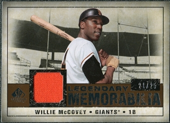 2008 Upper Deck SP Legendary Cuts Legendary Memorabilia Copper Parallel #WM Willie McCovey /25