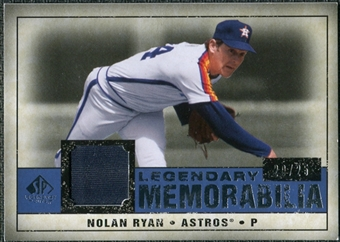 2008 Upper Deck SP Legendary Cuts Legendary Memorabilia Dark Blue Parallel #NR3 Nolan Ryan /25