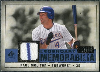 2008 Upper Deck SP Legendary Cuts Legendary Memorabilia Dark Blue Parallel #PM Paul Molitor /25