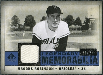 2008 Upper Deck SP Legendary Cuts Legendary Memorabilia Dark Blue #RO Brooks Robinson 22/25