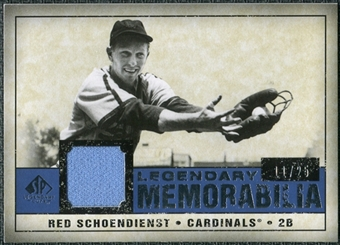 2008 Upper Deck SP Legendary Cuts Legendary Memorabilia Dark Blue Parallel #SC Red Schoendienst /25