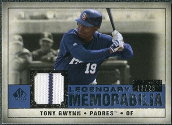 2008 Upper Deck SP Legendary Cuts Legendary Memorabilia Dark Blue Parallel #TG Tony Gwynn /25