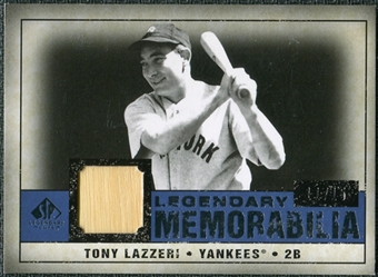 2008 Upper Deck SP Legendary Cuts Legendary Memorabilia Dark Blue Parallel #TL Tony Lazzeri /15