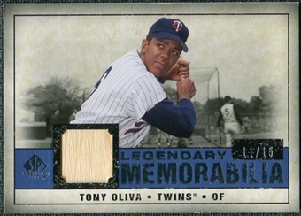 2008 Upper Deck SP Legendary Cuts Legendary Memorabilia Dark Blue #TO Tony Oliva /15