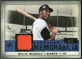2008 Upper Deck SP Legendary Cuts Legendary Memorabilia Dark Blue Parallel #WM Willie McCovey /5