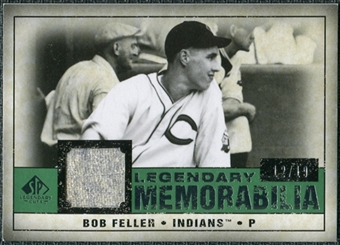 2008 Upper Deck SP Legendary Cuts Legendary Memorabilia Dark Green Parallel #BF Bob Feller /19
