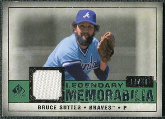 2008 Upper Deck SP Legendary Cuts Legendary Memorabilia Dark Green Parallel #BS Bruce Sutter /40