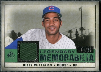 2008 Upper Deck SP Legendary Cuts Legendary Memorabilia Dark Green Parallel #BW Billy Williams /26