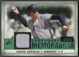 2008 Upper Deck SP Legendary Cuts Legendary Memorabilia Dark Green Parallel #GG Goose Gossage /54