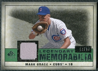 2008 Upper Deck SP Legendary Cuts Legendary Memorabilia Dark Green Parallel #MG Mark Grace /17