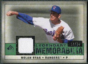 2008 Upper Deck SP Legendary Cuts Legendary Memorabilia Dark Green #NR2 Nolan Ryan /34