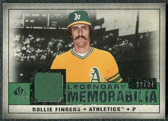 2008 Upper Deck SP Legendary Cuts Legendary Memorabilia Dark Green Parallel #RF Rollie Fingers /34