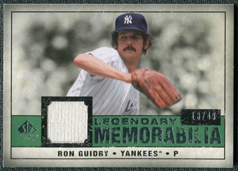 2008 Upper Deck SP Legendary Cuts Legendary Memorabilia Dark Green Parallel #RG Ron Guidry /49