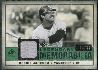 2008 Upper Deck SP Legendary Cuts Legendary Memorabilia Dark Green Parallel #RJ Reggie Jackson /44
