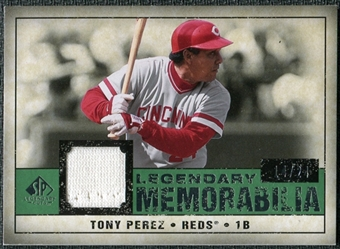 2008 Upper Deck SP Legendary Cuts Legendary Memorabilia Dark Green Parallel #TP Tony Perez /24