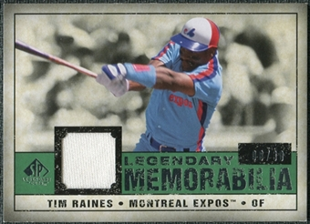 2008 Upper Deck SP Legendary Cuts Legendary Memorabilia Dark Green #TR Tim Raines /30