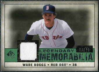 2008 Upper Deck SP Legendary Cuts Legendary Memorabilia Dark Green Parallel #WB2 Wade Boggs /26