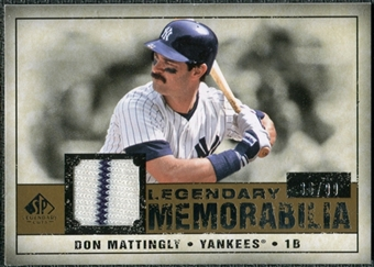 2008 Upper Deck SP Legendary Cuts Legendary Memorabilia #DM2 Don Mattingly /99