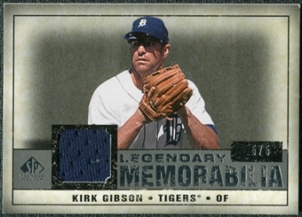2008 Upper Deck SP Legendary Cuts Legendary Memorabilia Gray #GI Kirk Gibson /5