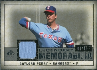 2008 Upper Deck SP Legendary Cuts Legendary Memorabilia Gray #GP2 Gaylord Perry /15