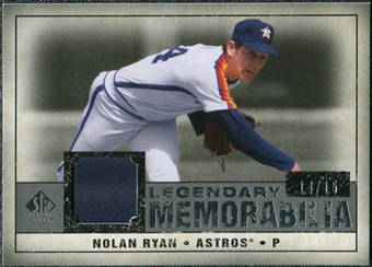 2008 Upper Deck SP Legendary Cuts Legendary Memorabilia Gray #NR3 Nolan Ryan /15