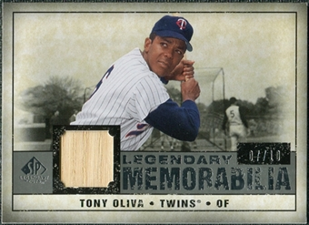 2008 Upper Deck SP Legendary Cuts Legendary Memorabilia Gray #TO Tony Oliva /10