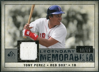 2008 Upper Deck SP Legendary Cuts Legendary Memorabilia Gray #TP2 Tony Perez /15