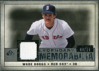 2008 Upper Deck SP Legendary Cuts Legendary Memorabilia Gray Parallel #WB2 Wade Boggs /15