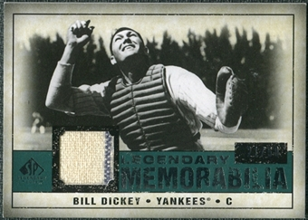 2008 Upper Deck SP Legendary Cuts Legendary Memorabilia Green #BD Bill Dickey /50