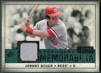 2008 Upper Deck SP Legendary Cuts Legendary Memorabilia Green Parallel #BE Johnny Bench /99