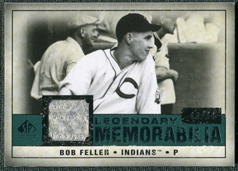 2008 Upper Deck SP Legendary Cuts Legendary Memorabilia Green Parallel #BF Bob Feller /99