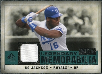 2008 Upper Deck SP Legendary Cuts Legendary Memorabilia Green Parallel #BJ Bo Jackson /59