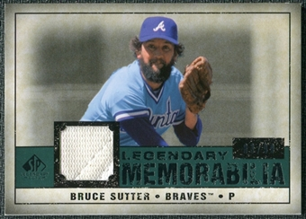 2008 Upper Deck SP Legendary Cuts Legendary Memorabilia Green Parallel #BS Bruce Sutter /99