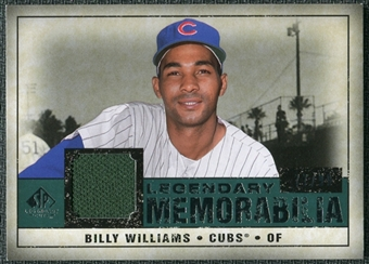 2008 Upper Deck SP Legendary Cuts Legendary Memorabilia Green Parallel #BW Billy Williams /99