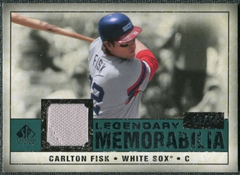 2008 Upper Deck SP Legendary Cuts Legendary Memorabilia Green #CF2 Carlton Fisk /99