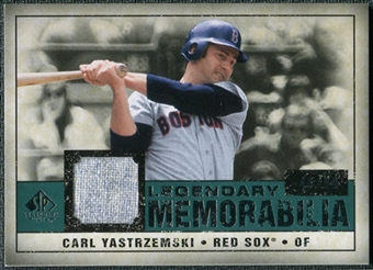2008 Upper Deck SP Legendary Cuts Legendary Memorabilia Green #CY Carl Yastrzemski /99