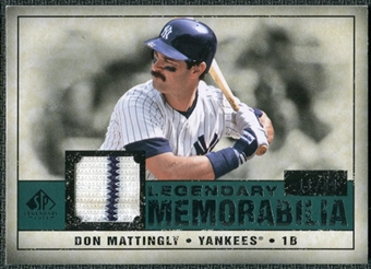 2008 Upper Deck SP Legendary Cuts Legendary Memorabilia Green Parallel #DM2 Don Mattingly /99