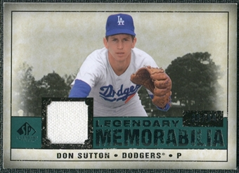 2008 Upper Deck SP Legendary Cuts Legendary Memorabilia Green Parallel #DS Don Sutton /99