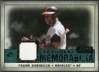 2008 Upper Deck SP Legendary Cuts Legendary Memorabilia Green #FR Frank Robinson 94/99